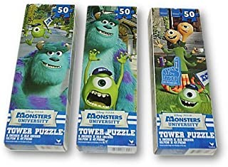 Monsters University 50 Piece Tower Puzzle Pack - Set of 3
