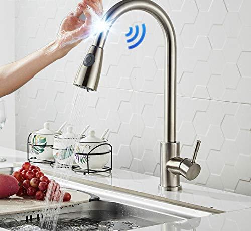 Grifo De Cocina Con Filtro Tire Hacia Abajo Toque Grifos De Cocina Sensor De Latón De Calidad Grifo De Filtro De Cocina Toque Grifo Mezclador De Cocina Q