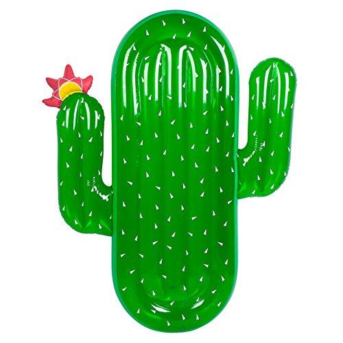 UISEBRT Aufblasbar Grüner Kaktus Luftmatratze Riesiger PVC Pool Schwimmmatratze für Erwachsene & Kinder,180 x 120 x 20cm (Grüner Kaktus)