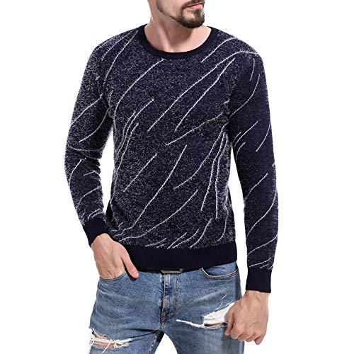 FRAUIT Heren Slim Fit trui persoonlijkheid gebreide bedrukte gebreide trui mannen comfortabel sweatshirt sweatshirt sport vrije tijd hemd shirt top blouse