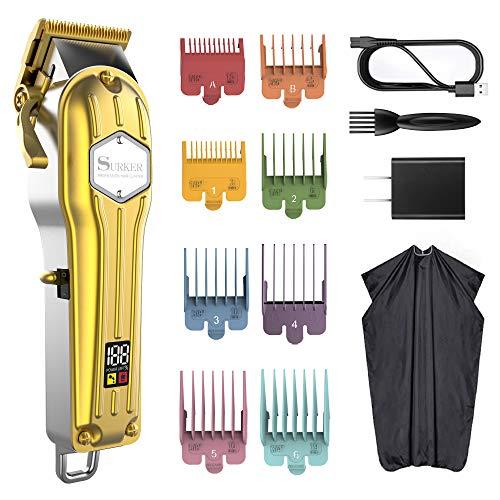 Cortadores de pelo para hombre sin cordón corte de pelo y kit de aseo para hombres barredor...