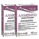 Pack Ansiomed MENTE POSITIVA 2x45 (90) CÁPS de Bioserum - Combate la ansiedad y potencia un estado de ánimo óptimo de forma natural. Tratamiento para 45 días.
