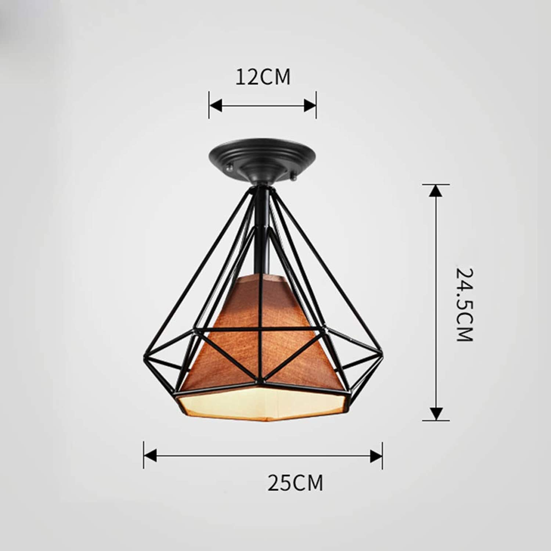 E27 Eisen Mini Deckenleuchten modern, Oberflchenmontage Deckenlampe Inkl. leuchtmittel Kreativ Dekoration Deckenlampe-Warmes Licht C D-25cm T-24.5cm