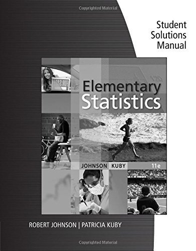 Student Solutions Manual for Johnson/Kuby's Elementary Statistics, 11th by Robert R. Johnson (2011-05-18)