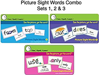I See, I Spell, I Learn® - Picture Sight Words Flashcards Sets 1, 2 & 3 Combo Pack