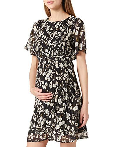Noppies Studio Dress SS AOP Salerno Vestido, Black-P090, 42 para Mujer