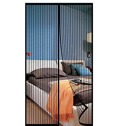 Mosquitera Magnética,Mosquitera Magnética Para Puertas Manos Libres Anti Insectos Cierre Automático,para Puertas Terraza-black 1  70x200cm(27x78inch)