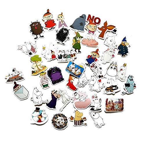 RSZHHL Sticker de Carro 40 Piezas 2-3 cm Cuidado de Las Manos Encantadoras Pegatinas Moomin para Maleta monopatín Equipaje portátil Nevera teléfono DIY Pegatina