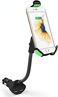 Car Phone Mount, Vansky Gooseneck Car Charger Holder Cradle Mount with Dual USB 3.1A Max Charging Ports for iPhone X/8 Plus/7 Plus/7/6/6S,Samsung Galaxy S5/S6/S7/S8, Google Nexus, Huawei