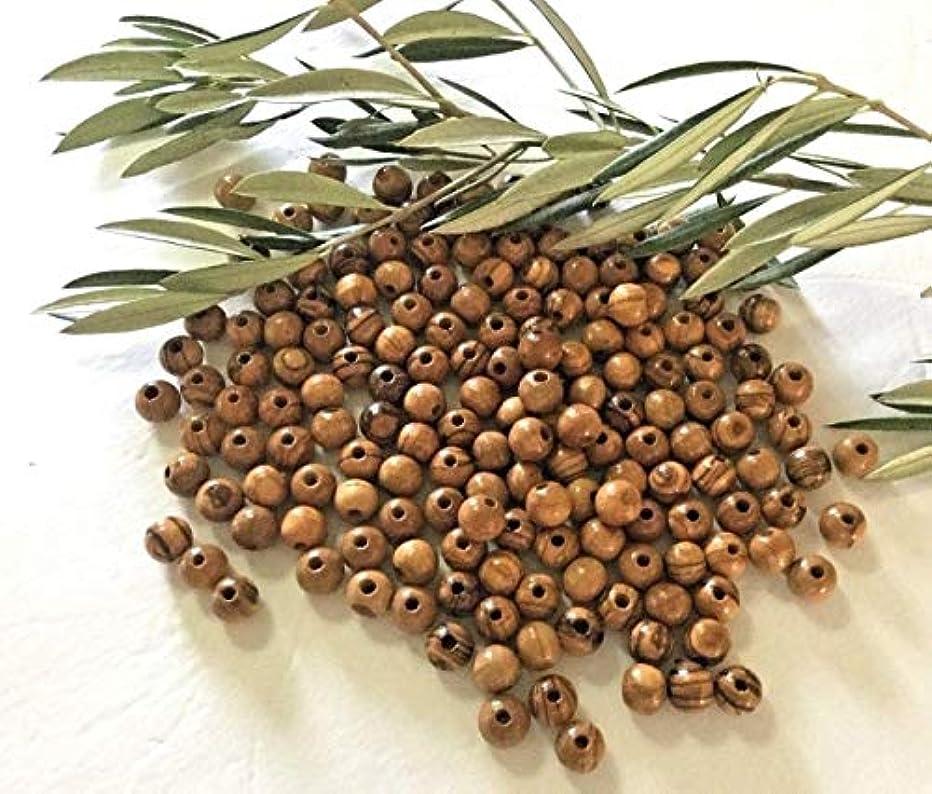 120~ Olive Wood Round Beads (6mm) Polished Rosary Jewelry Holy Land Bethlehem Jerusalem