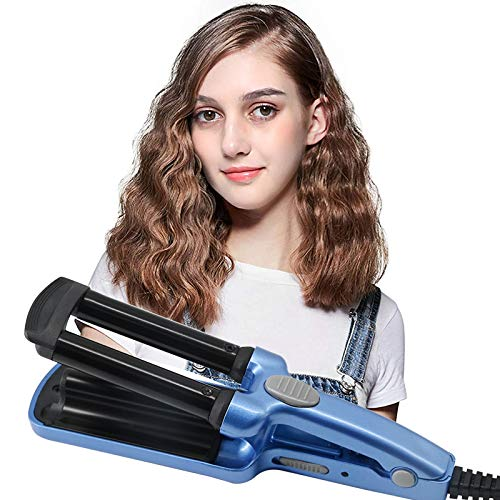 Mini Curling Wands, Portable Travel Hair Curler Curling Irons with 3 Barrel...