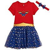 DC Comics Wonder Woman Toddler Girls Short Sleeve Costume Dress 5T Red/Blue