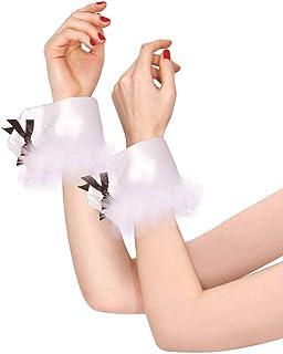 Amscan White Bunny Wrist Cuffs, Adult Size 848221