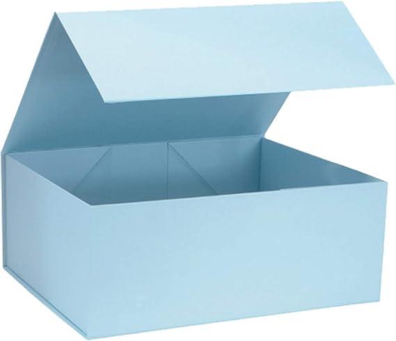 Caja de regalo magnética azul bebé caja de presentación rígida para regalo de chocolates, ropa y todas las ocasiones – Tamaño 16 x 20 x 8 cm: Amazon.es: Oficina y papelería