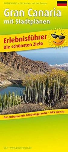 Gran Canaria: Erlebnisführer mit Stadtplänen und Informationen zu Freizeiteinrichtungen auf der Kartenrückseite, wetterfest, reißfest, abwischbar, GPS-genau. 1:85000