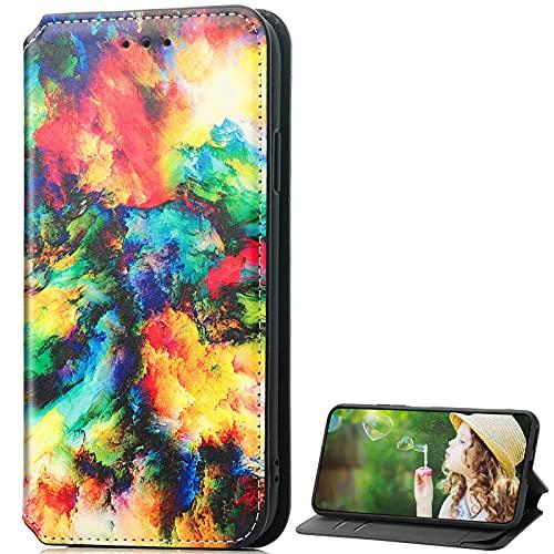 BAILI Lederhülle für Meizu 18 PRO 5G Hülle, Flip Hülle Schutzhülle Handy mit Kartenfach Stand & Magnet Funktion als Brieftasche, Tasche Cover Etui Handyhülle für Meizu 18 PRO 5G, KS2