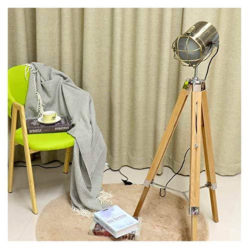 YSJSPKK Lámpara de pie Trípode Lámpara de pie Luces de pie Sala de Estar Decoración Lectura Iluminación Triángulo Moderno Minimalista Luminaria (Lampshade Color : Bronze)