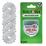 45mm Crochet Edge Skip Blades (Pack of 5) Compatible with Fiskars & Olfa Cutters! Perfect Wide Skip Blade for Crochet Edge Projects, Fleece, and Scrapbooking!