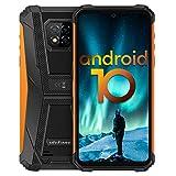 Écran 6,1 Pouces 4Go+64Go Octa-Core Telephone Portable 4G, Ulefone Armor 8 Smartphone Incassable Androud 10 5580 mAh IP68 / IP69K étanche Antichoc, Double SIM Débloqués Smartphone GPS OTG NFC (Jaune)