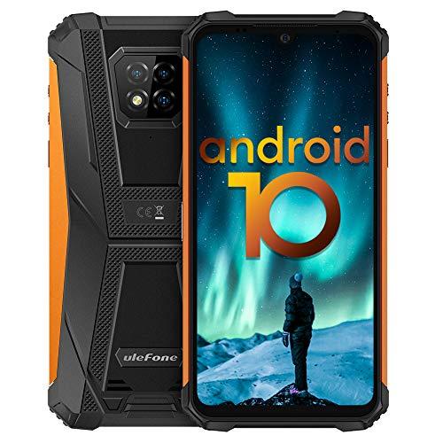 Outdoor Handys, Ulefone Armor 8 Android 10 Smartphones, Schutzart IP68/IP69K, Qcta-Core-Prozessor, 4GB RAM, 64GB ROM, 16MP Hauptkamera, 8MP Frontkamera, 6,1-Zoll-Display, 5800mAh Batterie - Orange