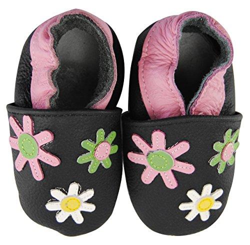 Axy bébé chaussons chaussures en cuir Chaussures bébé enfant Jardin Chaussures – Fleurs - Multicolore - Mehrfarbig,