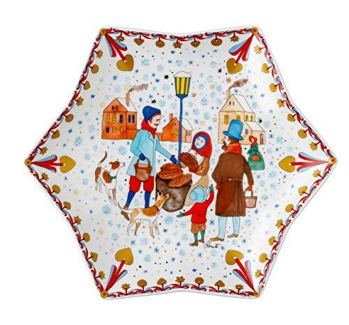 Hutschenreuther 02473-727312-25381 Weihnachtsmarkt 24 cm Sternschale, Porzellan