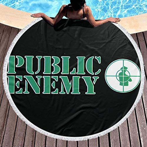 Public En-emy - Toalla de playa para baño/piscina/playa con toalla de algodón súper suave y absorbente resistente a la decoloración