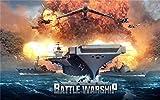 XHJY Puzzle 1000 Piezas De Rompecabezas Creativo Desafío Intelectual, Juegos para Adultos, Niños, Adolescentes,Decoración del Hogar, 75 X 50Cm,Batalla Buque De Guerra Imperio Naval