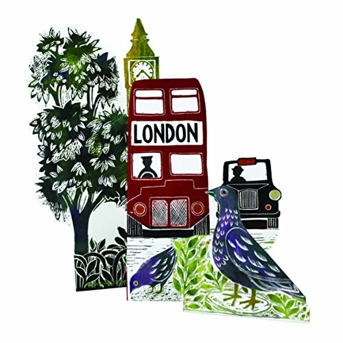 London Bus Up 3D-kaart Judy Lumley Designs met envelop in cello wrap