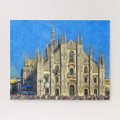 Wooden Jigsaw Puzzle 1000 Piece for Adults   Milan. The Duomo Jigsaw Puzzle ame Toys ift Jigsaw Puzzle