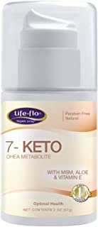 Life-Flo 7-Keto DHEA Metabolite Cream 15mg | MSM, Aloe & Vitamin E | Measured Pump | Unscented | 2oz