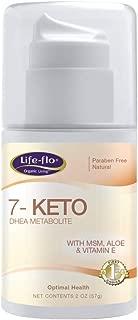 Life-Flo 7-Keto DHEA Metabolite Cream 15mg | MSM, Aloe & Vitamin E | Measured Pump | Fragrance-Free | 2oz