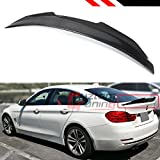 Cuztom Tuning Carbon Fiber Highkick PS Style Trunk Lid Spoiler Wing Fits for 2014-2020 BMW F36 4 Series Gran Coupe 4 Door