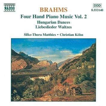 BRAHMS: Four-Hand Piano Music, Vol.  2