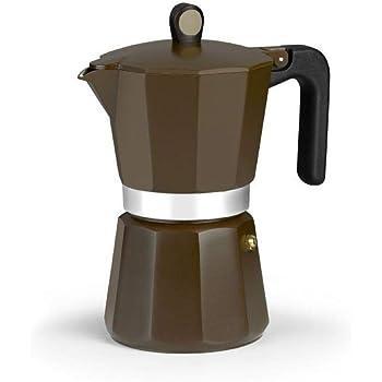 Monix New Cream - Cafetera Italiana de Aluminio, Capacidad 9 Tazas, Apta para Todo Tipo de cocinas incluida inducción: Amazon.es: Hogar