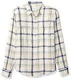 Lucky Brand Men's Long Sleeve Button Up Double Weave Mason Workwear Shirt, Blue Plaid, S
