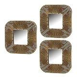 Set de Espejos Cuadrados contemporáneo Dorado de Polipropileno de 25x25 cm - LOLAhome