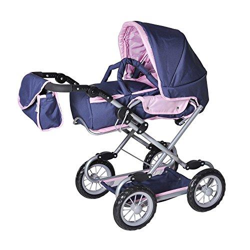 Knorrtoys 65094 - Puppenwagen Salsa - blue pink