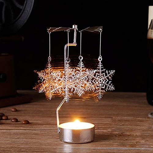 About1988 Metall Rotierenden Teelicht Kerzenhalter, Rotierende Teelichthalter Elch Metall Rotierenden Teelicht Kerzenhalter DIY Spinning Teelichthalter, Teelichthalter Windlicht Teelichtkarussell (B)