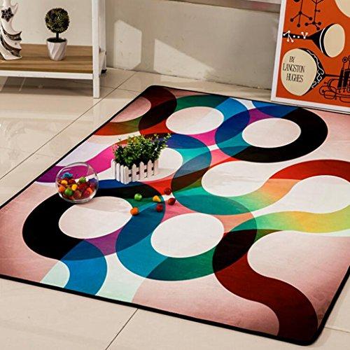 Aoligei Salon Tapis Simple scandinave Table Basse canapé Couverture Chambre Tapis Plein de créativité rectangulaire