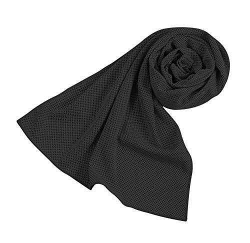 Barrageon Serviette de Refroidissement du Cou pour Soulagement Instantané, Glace Serviette de Sports pour Golf Yoga Camping Fitness - Noir