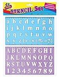 Art box alphabet stencil set