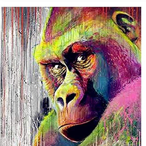 Preisvergleich Produktbild Erwachsene Digitale Malerei Tierfarbe Leinen Leinwand nach Hause Wohnzimmer Büro Bild Dekoration Geschenk -40 * 50cm cm (kein Rahmen) Mal-Kits