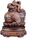 LULUDP Sculpture Estatua de la Estatua del hogar de la Estatua de la Estatua de la Estatua de Zen Feng Shui, Chi Lin/Kylin con Dragón Avatar Figurine Sculpture, Riqueza Suerte Protección contra la p