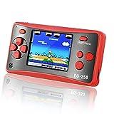 E-WOR - Console da gioco in stile retrò, 6,3 cm, 8 bit, 200 giochi classici incorporati, console portatile per adulti
