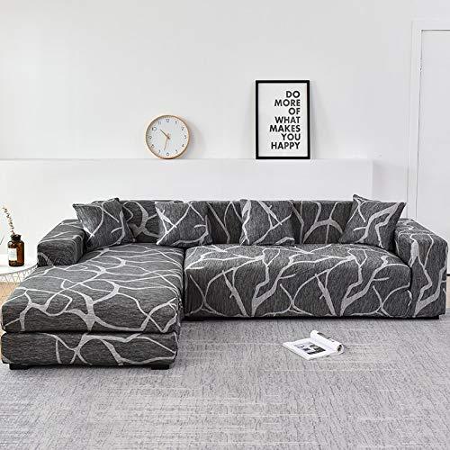 WXQY Funda de sofá Familiar, se Puede Utilizar para Chaise Longue de Esquina en Forma de L, Funda de sofá elástica, Funda de sofá elástica para Sala de Estar A9 1 Plaza