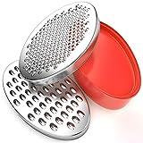 Rallador de Queso BINSENI, sin BPA, con Contenedor de Almacenamiento de...