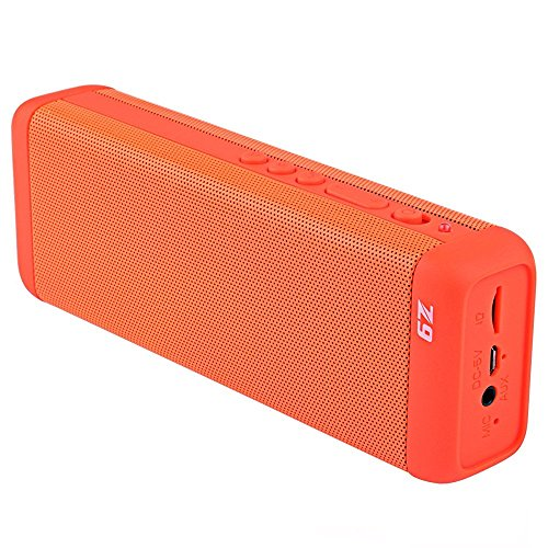 Soggiv Portable Bluetooth Speakers, 10W HiFi Wireless Sport Mini Speaker with Bass, Built-in Speakerphone Outdoor Speaker for iPhone 7 6 6s 5, ipad Series, Honor 8 5X (Orange)