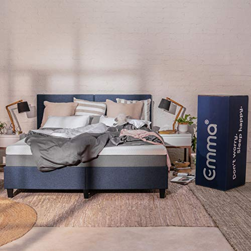Emma Original Mattress | German Engineered | 78x72 King Size | 8 Inch Height | 3 Layered Memory Foam | 100 Nights Trial