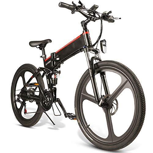 Montaña de bicicletas eléctricas 10.4Ah 48V 350W plegable ciclomotor bicicleta eléctrica 26 pulgadas inteligente bicicleta plegable 35 kmh Velocidad máxima 80 kilometros Kilometraje máximo de carga 15